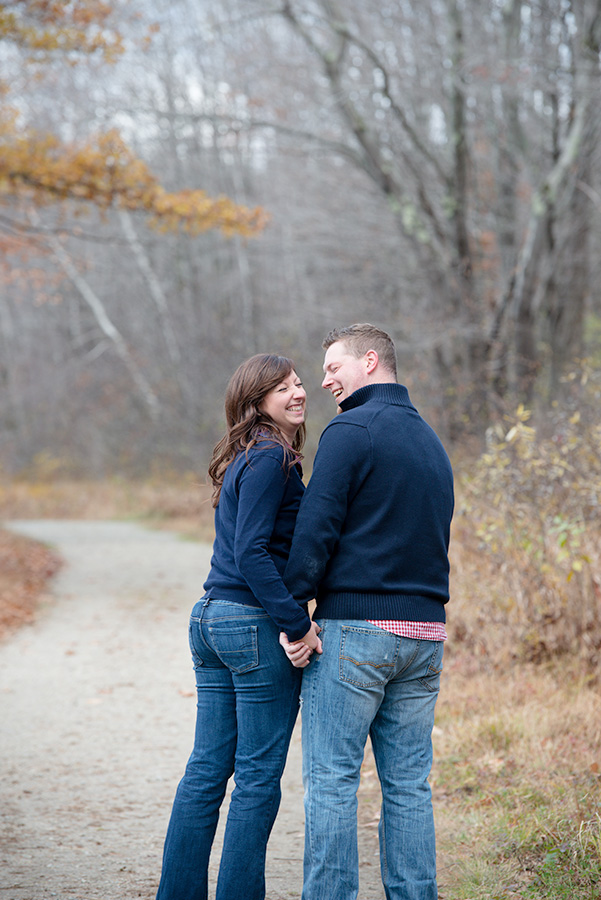 relaxed engagement photos
