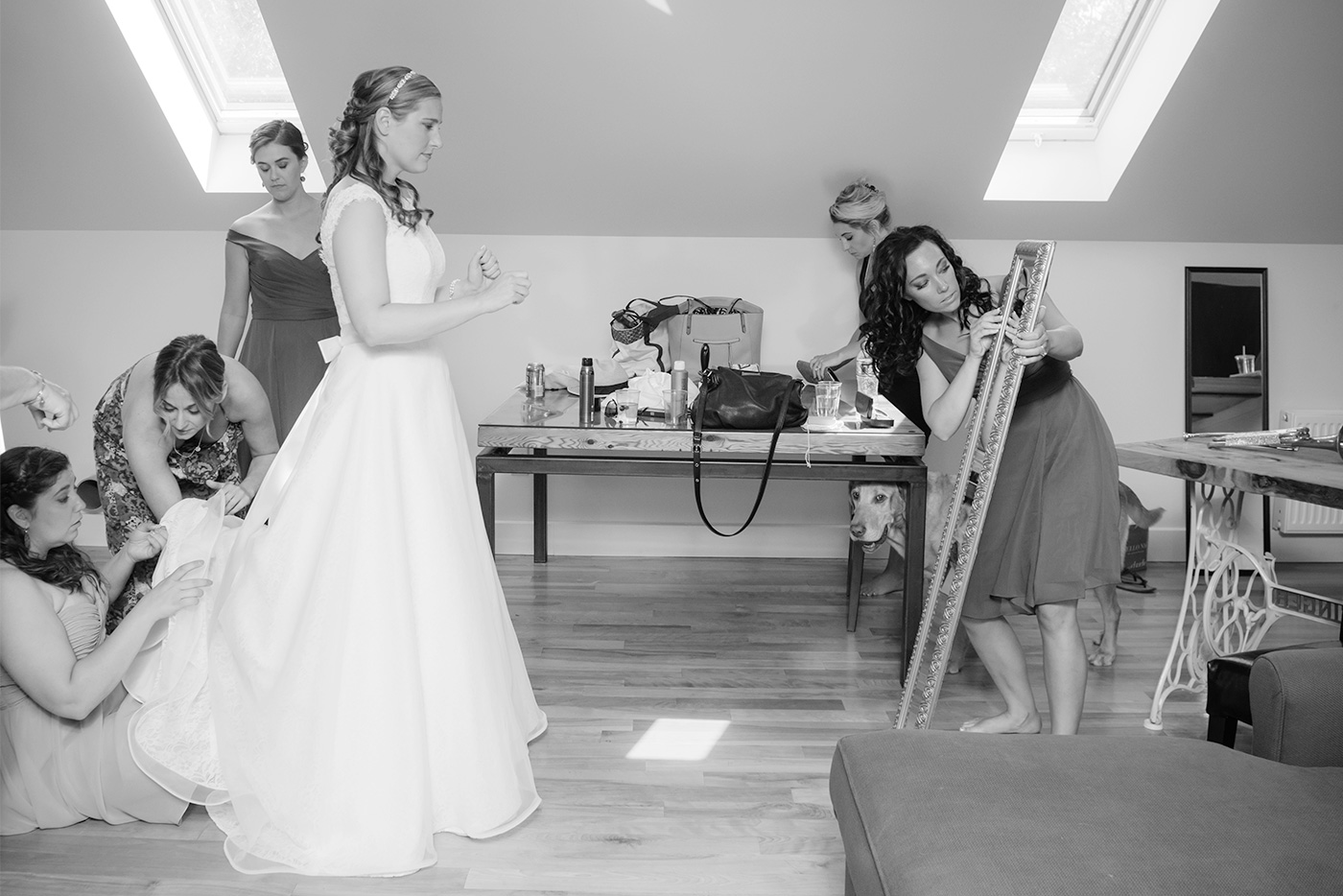 details of getting ready on your wedding day